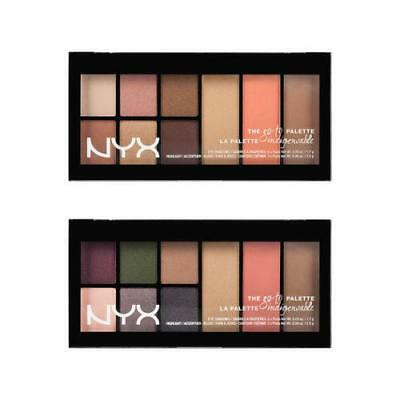 NYX The Go-To Palette Eye Shadow, Highlighter, Blush & Contour  - Choose Shade