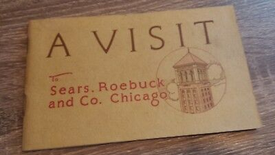 Rare Vintage SEARS Booklet A Visit to Sears, Roebuck and Co. virtual tour book