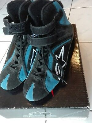 Alpinestars Tech 1-R blue Racing Kart Schuhe FIA