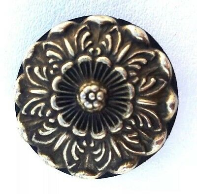 "2"" diam.Brass Antique Hardware Drawer Pull Knob Rococo French Provincial Country"