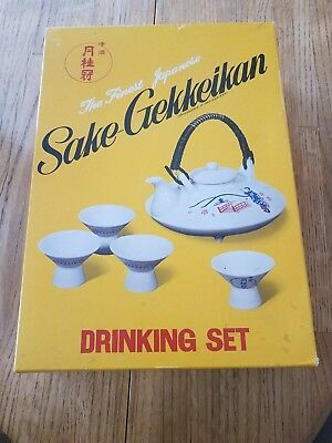 NEW Sake Gekkeikan Choshi Drinking Set Finest Japanese Quality Vintage Porcelain