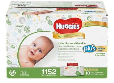 Huggies Natural Care Plus Wipes 1,152-count