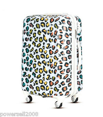 "28""TSA Lock Universal Wheel Fashion Leopard Grain ABS+PC Travel Suitcase Luggage"