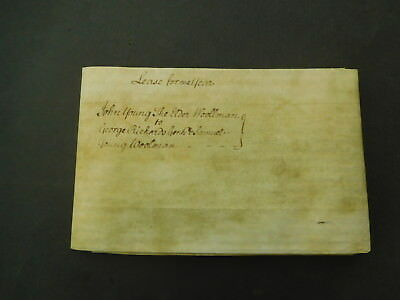 Antique Vellum Indenture 1783 Lease for a Year Hook Norton Oxfordshire