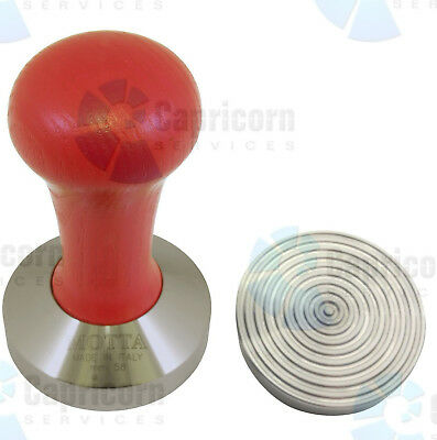 Motta 8500R Red Wooden Espresso Stainless Steel Coffee Tamper 58Mm Wave Base