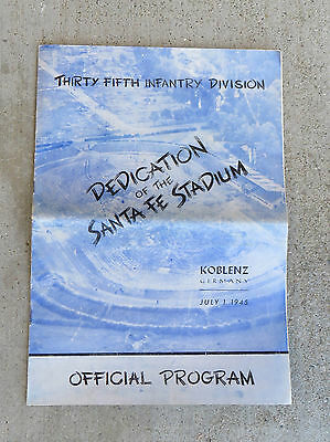 Orig WW2 35th Infantry Div Dedication Santa Fe Stadium Program Koblenz Germany