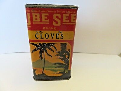 Vintage advertising U BE SEE Brand spice tin from Chicago & San Francisco