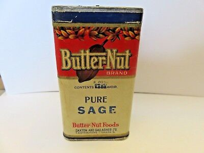 Vintage advertising Butter Nut Brand spice tin from Omaha