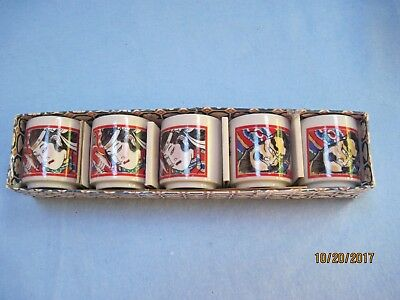 Great Vintage Set of 5 Sake Cups Still in Original Box