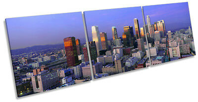 Los Angeles California Skyline Framed CANVAS PRINT Triple Wall Art