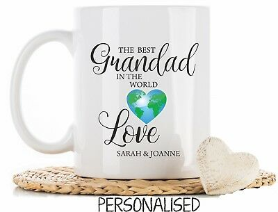 Personalised Best Grandad in the world Mug Cup Birthday christmas fathers Day