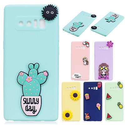 Cute 3D Pattern Rubber Silicone Back Case Cover For Samsung Galaxy S9 Plus/S8/S7
