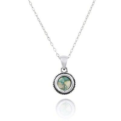 Ethnic Jewelry Design Sterling Silver Pendant With Ancient Roman Glass Amazing