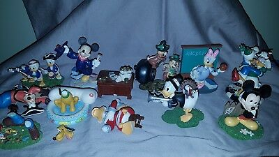 """Danbury Mint"" Disney Calendar characters figurines"