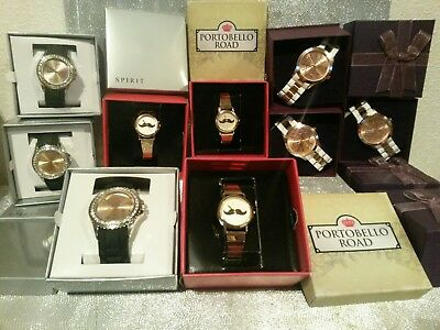 JOB LOT OF DESIGNER STYLE Spirit, London Identity Ladies/ Girls Watches RRP £300
