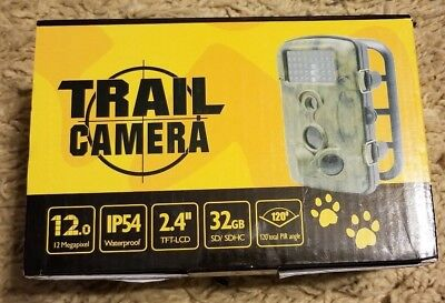 Waterproof Wildlife HD Trail Hunting Camera Night Vision New 32GB Megapixel LCD