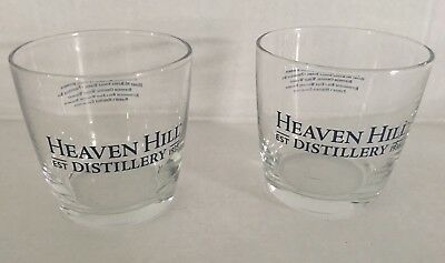 Heaven Hill Distillery Bourbon 6 oz. Rocks Bar Glasses LOT OF 2  FREE SHIPPING!