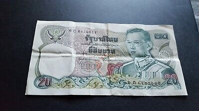 thailand currency 20 baht a398