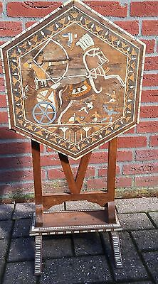 Rare Vintage Egyptian Marquetry Inlaid Wooden Table
