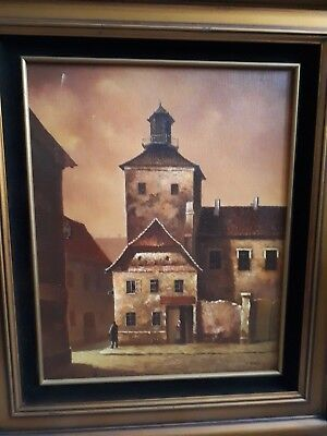 Drago Ivansenic 16x20 oil painting, ZAGREB CROATIA