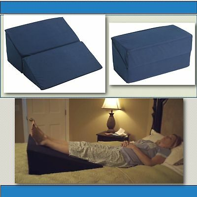 LARGE FOLDING BED Wedge Pillow for Acid Reflux Medical Elevate