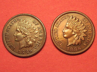 1886 Type 1 & Type 2 Indian Head Cents ~ Better Dates