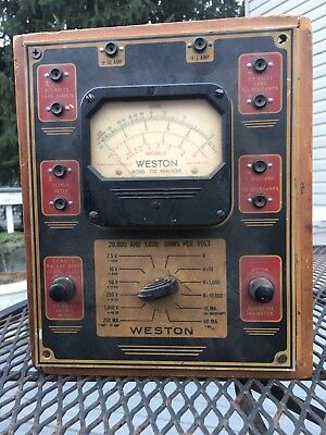 Antique Weston Model 772 Tube Tester Analyzer Meter Box Vintage Electronic