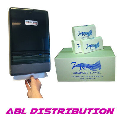 Compact Hand Towel Starter Pack - Hand Towels and Compact Dispenser to suit