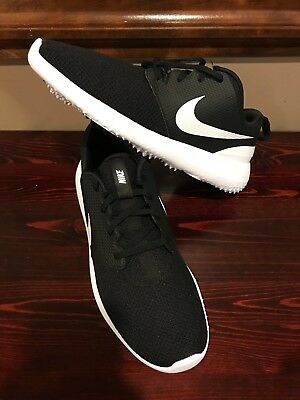 NEW NIKE GOLF Roshe G Shoes AA1837-001  Black White 22cd32415