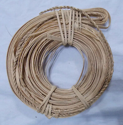 """3/8"""" Flat Reed & 1/8"""" Braided Reed Basketry Basket Caning 6 oz Total"""