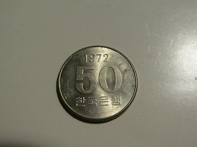 South Korea 1972 50 Won unc Coin