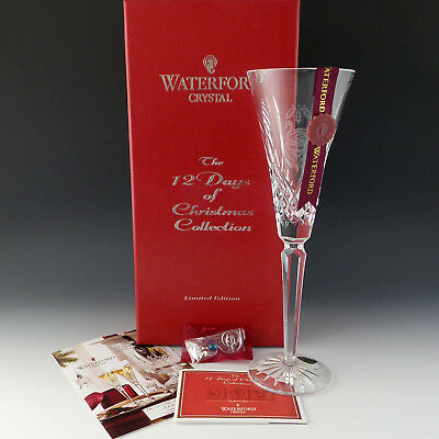 Waterford Crystal 12 Days of Xmas Seven 7 Swans A Swimming Flute 7th Kenmare MIB
