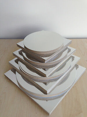 """30pc x Combo Cakeboard pack size 8"""" 9"""" 10"""" Circle Square craft board (A02)"""