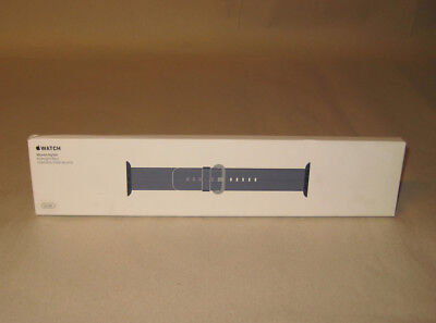 Brand New! Genuine Apple Watch Woven Nylon Band 42mm Midnight Blue - MPW82AM/A