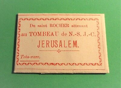 Antique Very Rare French Relic Paper Holy Rock Tomb Of Our Lord Jesus Christ Old