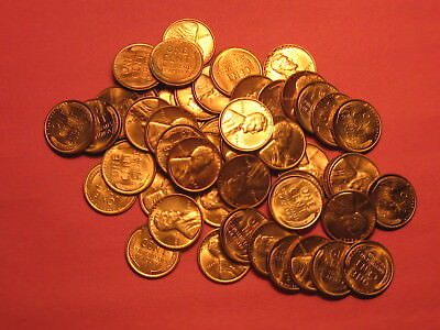 Roll of BU 1942 Lincoln Wheat Cents ~ Choice Red UNC