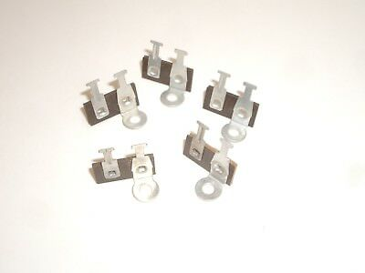 Vintage Phenolic Terminal Strip 2 Tag Post 1 Common Ground 4Pc Set