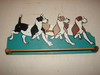 Vtg. 1940's Tie Rack 3 DOGS Blue Mt. Lookout New Tripoli, Pa Tamaqua, Pa