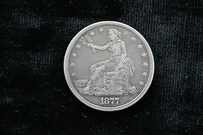1877 S Trade Dollar Silver United States