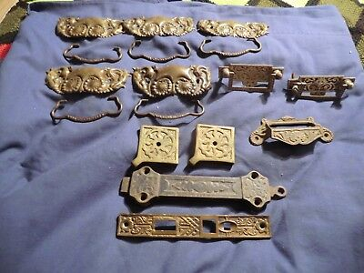 Vintage Hardware Lot Eastlake and other styles pulls more