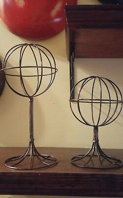 Vintage Look Wire Hat Stand- Adult & Baby- Display Hats, Wigs, Scarves, Etc