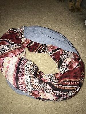 Solid Color Light Weight Thin Infinity Scarf Gold Glitter Circle Loop Fashion