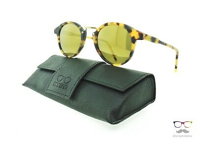 Brand New Authentic Kyme Sunglasses Frank 2 Matte Tortoise / Gold Mirror New
