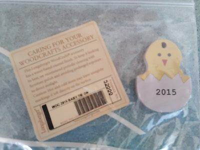 Longaberger 2015 Wood Crafts Baby tie-on  Boy or Girl  NEW  Ready to ship