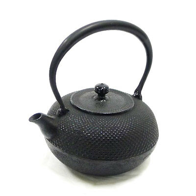 AUTHENTIC seieido H-120M iron kettle Nanbu Ironware Antiques / folk crafts...