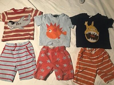Boden Lot 18-24M 1.5-2Y Summer Play Clothes Shirts Applique Baggies Shorts