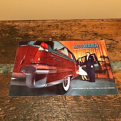 1956 Meteor Cadillac Funeral Coach and Ambulance factory brochure