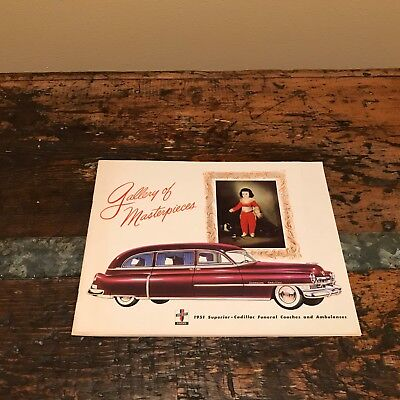 1951 Superior Cadillac Funeral Coach and Ambulance factory brochure