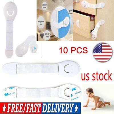 Baby Infant Kids Safety Locks Drawer Door Locks Cabinet Cupboard 10 PCS US Stock