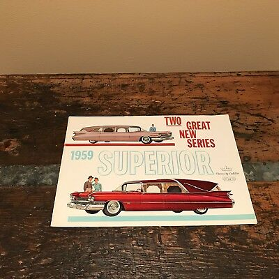 1959 Superior Cadillac Funeral Coach and Ambulance factory brochure